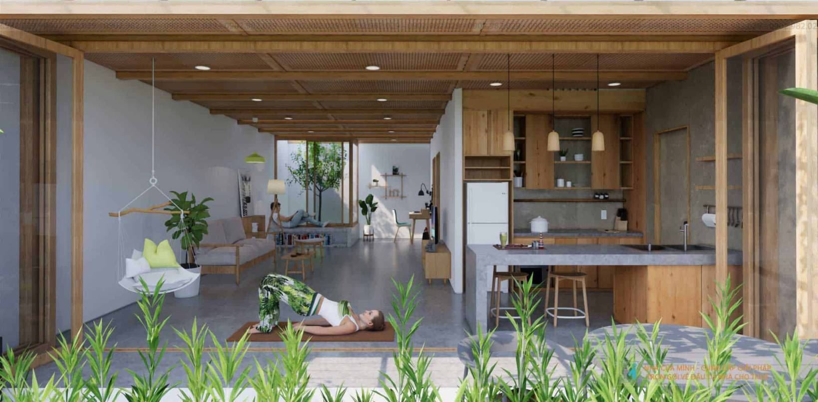 Phòng bếp tầng penthouse - Nhà ở kết hợp cho thuê dự án Bum House