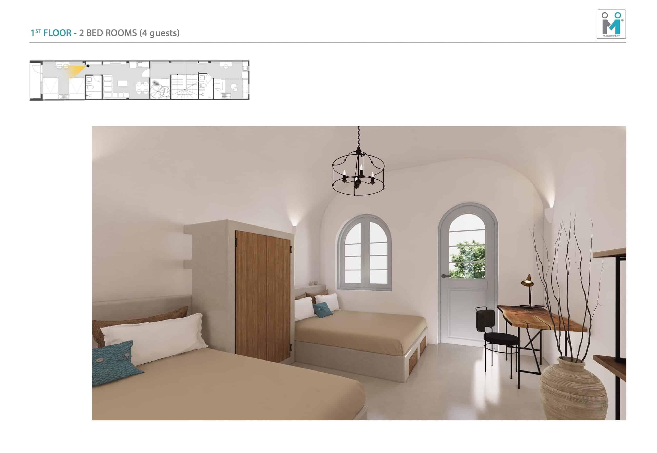 Đo vẽ hiện trạng, cải tạo căn hộ cho thuê Airbnb đường Mai Thị Lựu sau khi nâng cấp 2