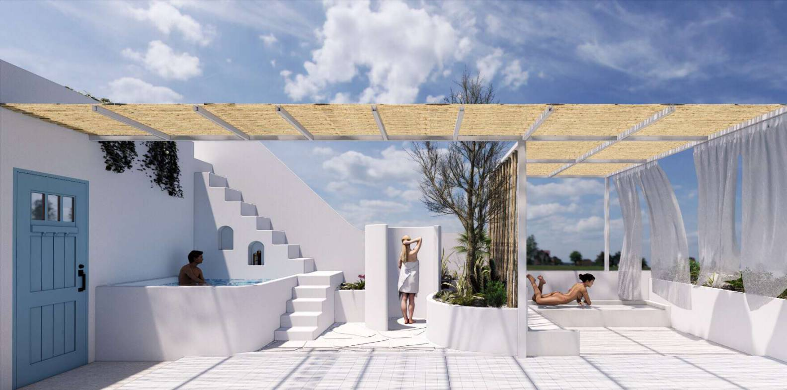 Đo vẽ hiện trạng, cải tạo căn hộ cho thuê Airbnb đường Mai Thị Lựu sau khi nâng cấp 1
