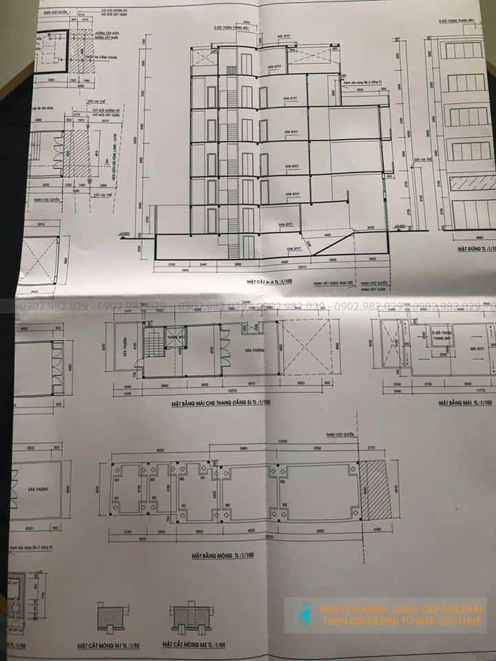 Bản vẽ xin phép xây dựng nhà cho thuê quận 10