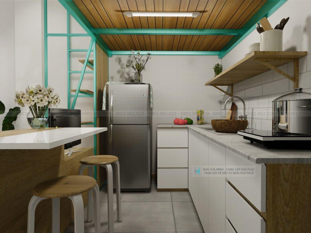 khuc vưc bếp căn hộ mini