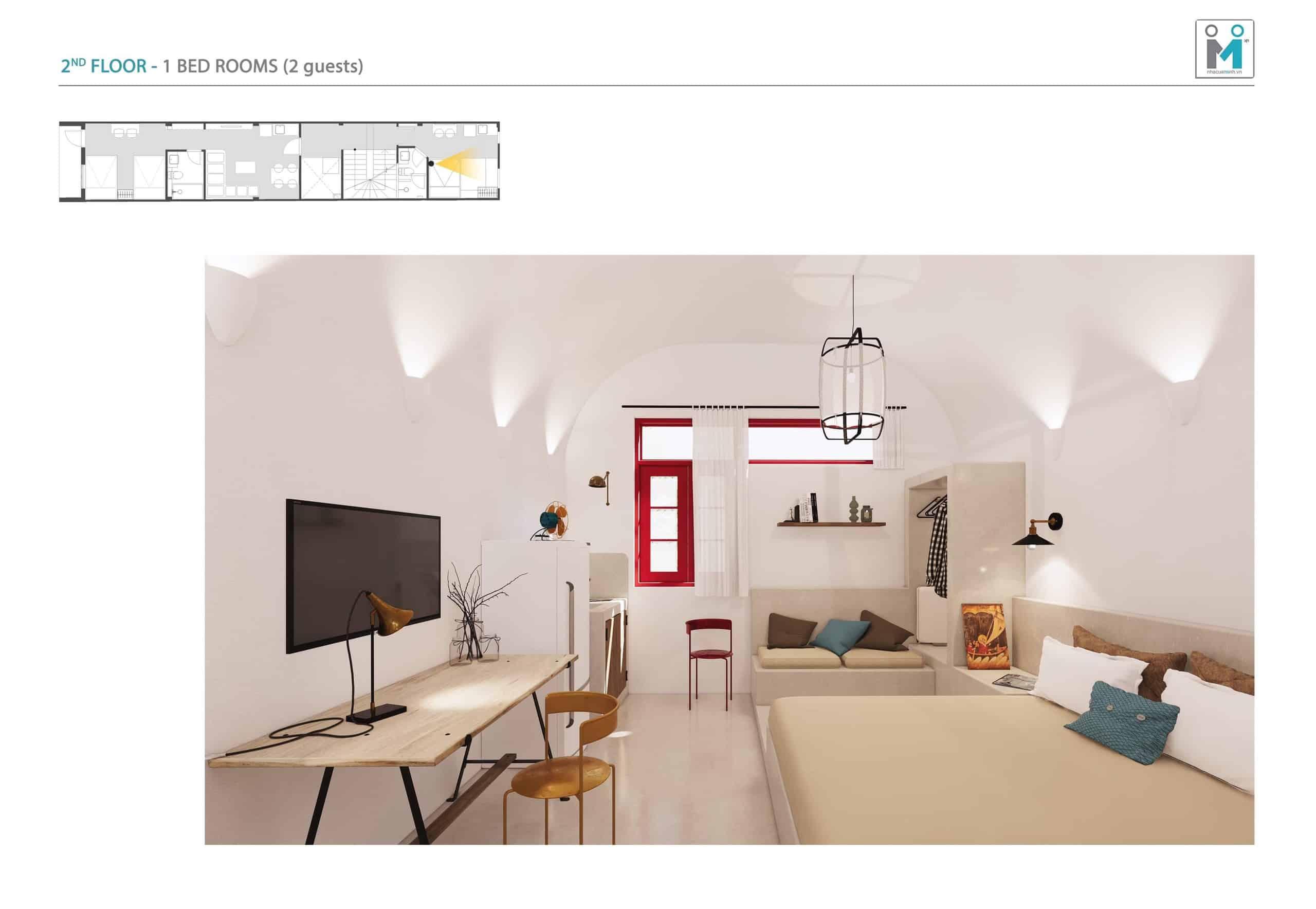 Đo vẽ hiện trạng, cải tạo căn hộ cho thuê Airbnb đường Mai Thị Lựu sau khi nâng cấp 4