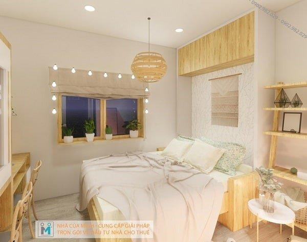 giường ngủ căn hộ tầng lửng the alley
