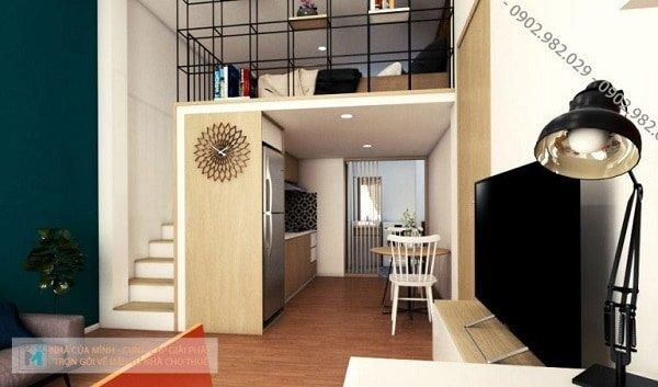 khu vực phòng khách căn hộ the alley
